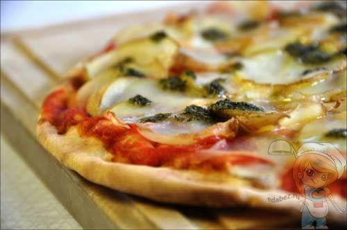 Вкусная пицца из теста без дрожжей