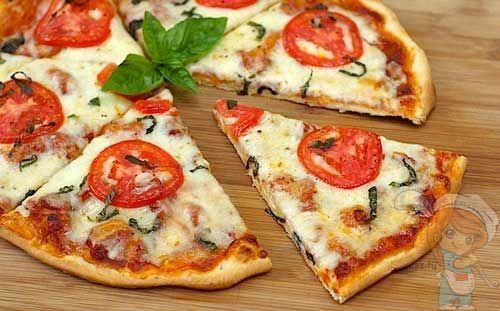 Тесто для итальянской пиццы без дрожжей