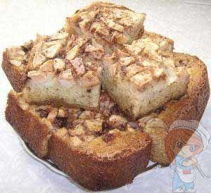 Рецепт манника с яблоками без муки