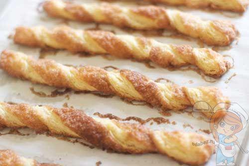 Как приготовить печенье из слоеного теста без дрожжей