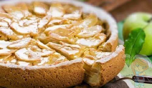 Пирог с яблоками и коньяком