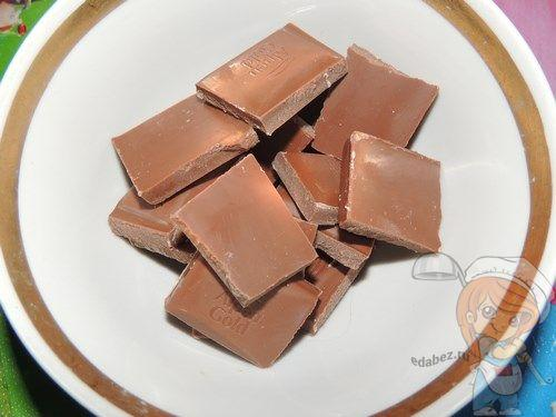 Дольки шоколада для торта