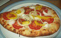 Рецепт пиццы без сыра со сметаной