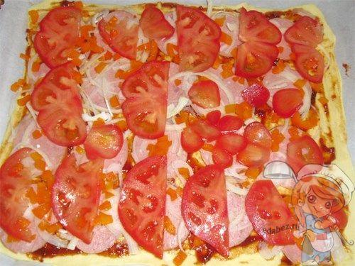 Вариант с колбасой но без сыра