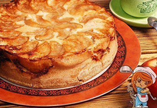 Шарлотка без яиц с яблоками рецепт с кефиром