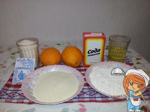 Компоненты апельсинового пирога