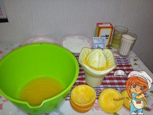 Выжимаем апельсинвый сок