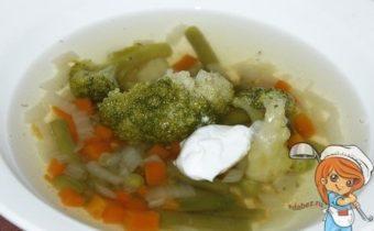 зеленый суп без мяса
