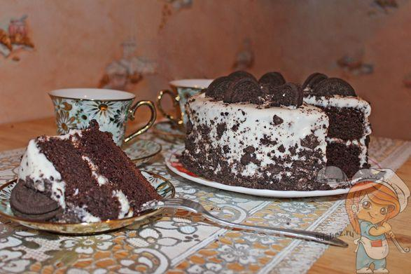 Обалденный торт без яиц