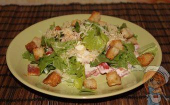Салат без мяса - почти Цезарь