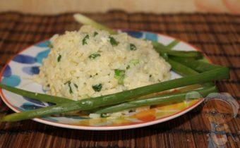 Рис без мяса с чесноком