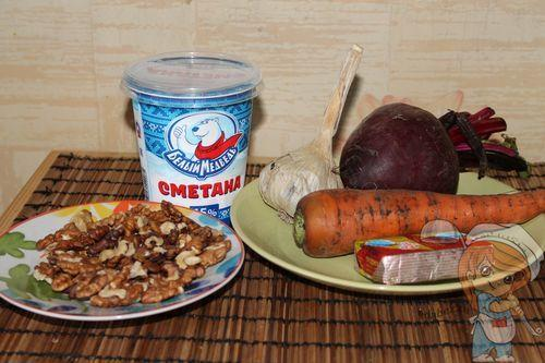 Ингредиенты для салата трио