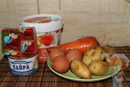 Ингредиенты Мимозы