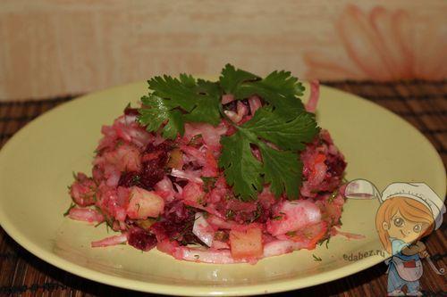 Салат с маслом и мясом рецепт с