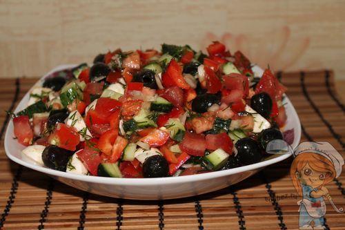 Салат греческий без мяса
