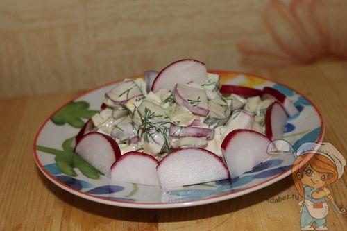 Легкий салат без мяса
