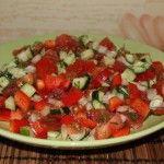 Салат без мяса из свежих овощей