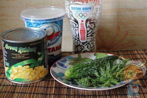 Ингредиенты салата с фасолью