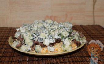 Салат без лука с сердечками
