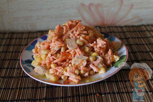 Салат без мяса с грибами