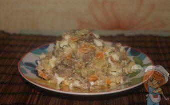 Салат из печени трески без сыра