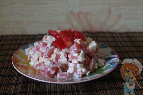 Салат без грибов Любимый