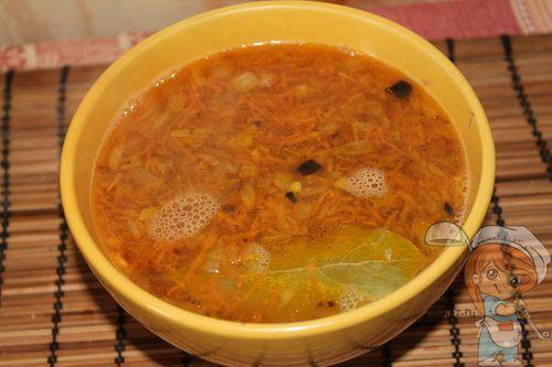 Суп с фасолью без мяса