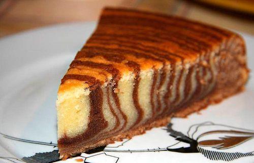 Рецепт мраморного кекса без сметаны