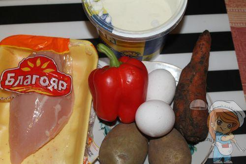 Рецептура салата без сыра