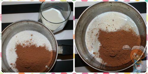 Высыпаем сахар и какао