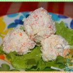Крабовые шарики - закуска без мяса