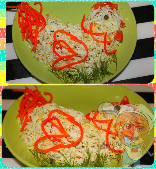Салат без лука Петушок