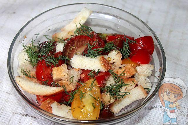 Украшаем салат укропом