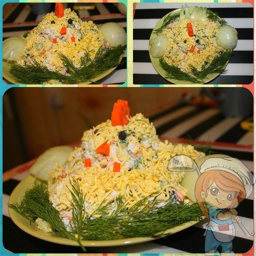 Новогодний салат без сыра