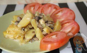 Картофель в сливках без мяса