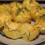 Запеченная картошка с сыром без мяса