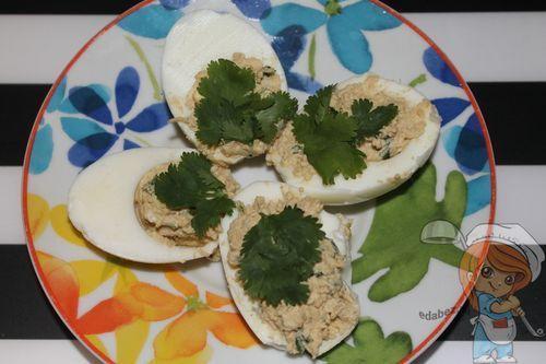 Фаршированные яйца с начинкой без чеснока