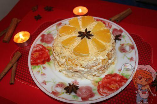 Рецепт праздничного салата без мяса
