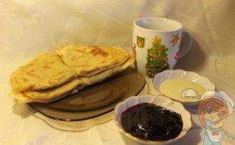 Рецепт блинов без яиц и молока