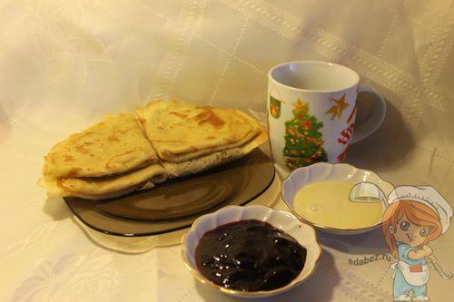 Пошаговый рецепт приготовления блинов без молока