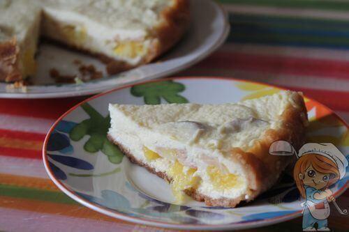 Фруктовый торт без молока