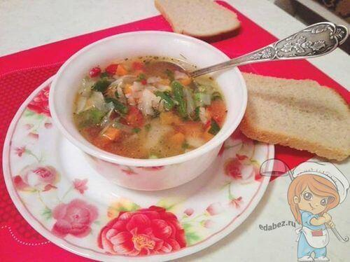 Овощной суп без добавления картошки