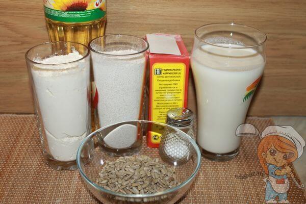 Ингредиенты для выпекания хлеба