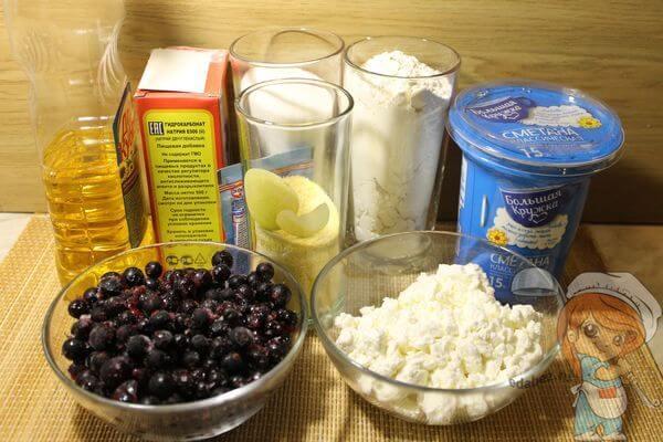 Ингредиенты бездрожжжевого пирога