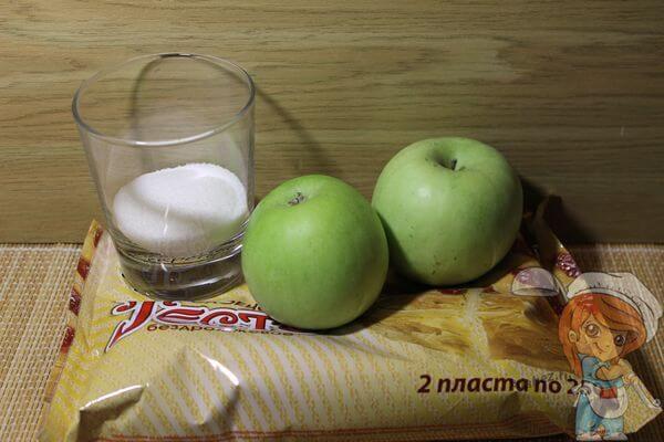 Ингредиенты для розочек из теста