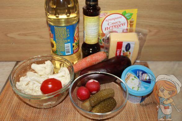 Ингредиенты для овощных канапе