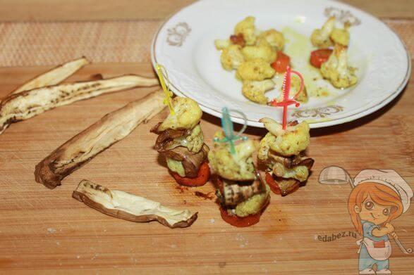 Нанизываем овощи