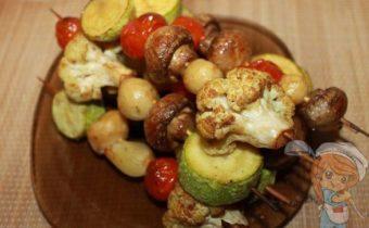 Овощные шашлыки на шпажках