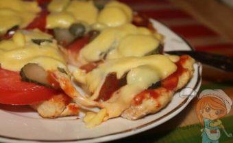 Пицца на куриной основе