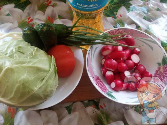 Ингредиенты для летнего салата